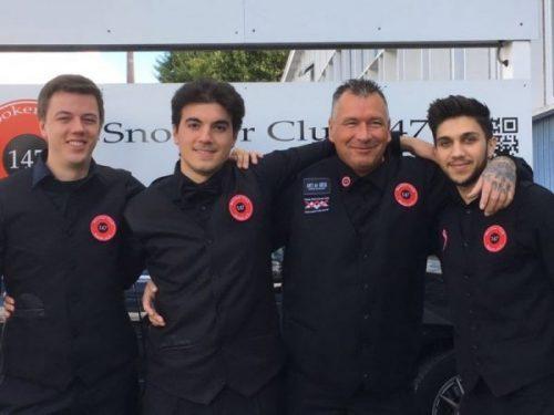 Das Team von SC 147 Essen: Mohammad al Asfar, Dirk Kunze, Kevin Schejock und Enes Bakirci
